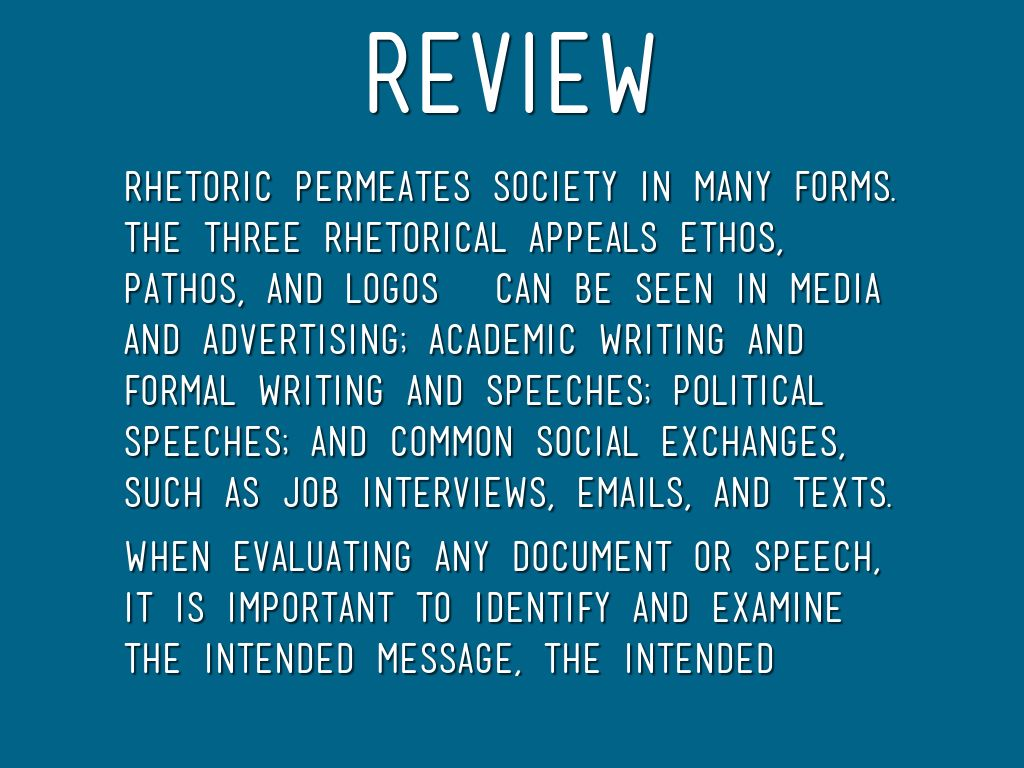 three forms of rhetoric