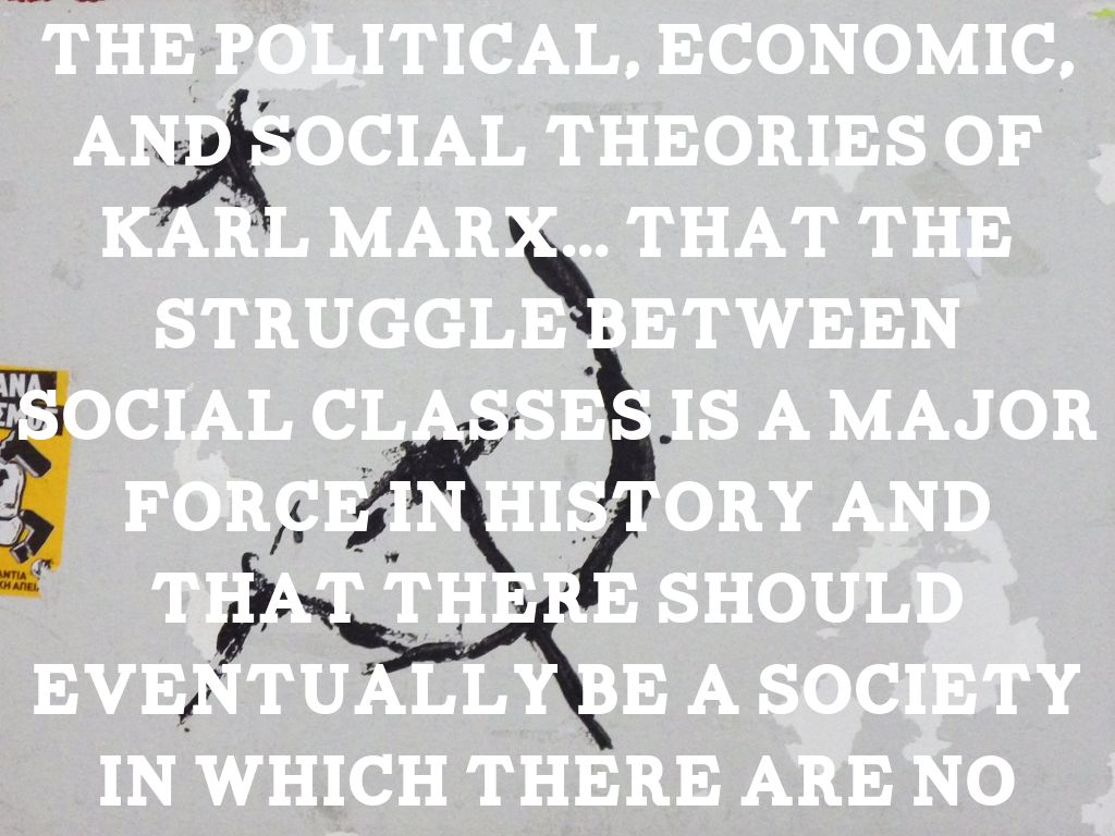 an analysis of the marxism a political economic and social theory by karl marx
