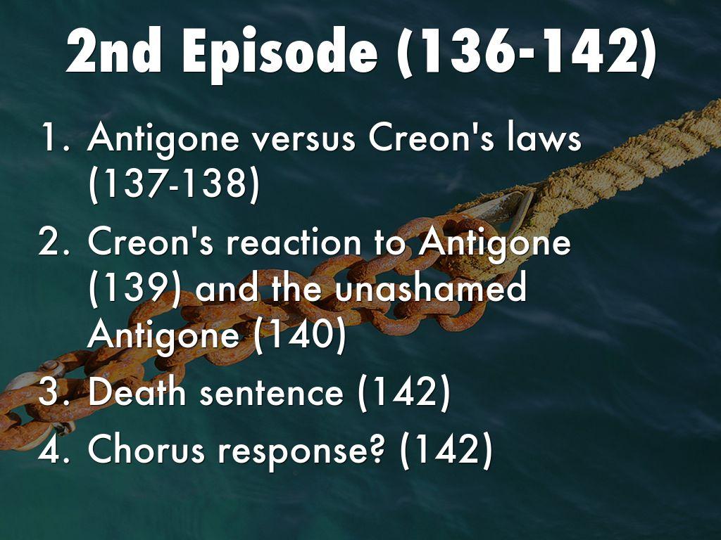 response antigone -antigone est condamnée à mort par son oncle maternel, le roi créon, car elle a bravé sa loi en enterrant le cadavre de son frère polynice,.