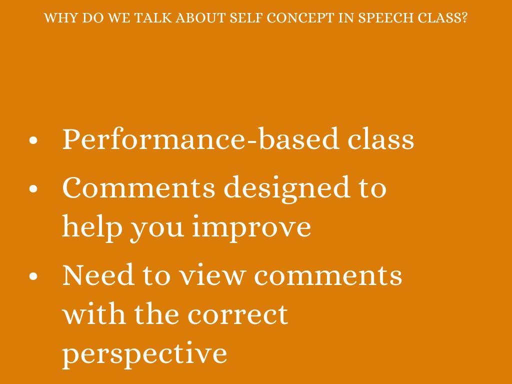self concept speech