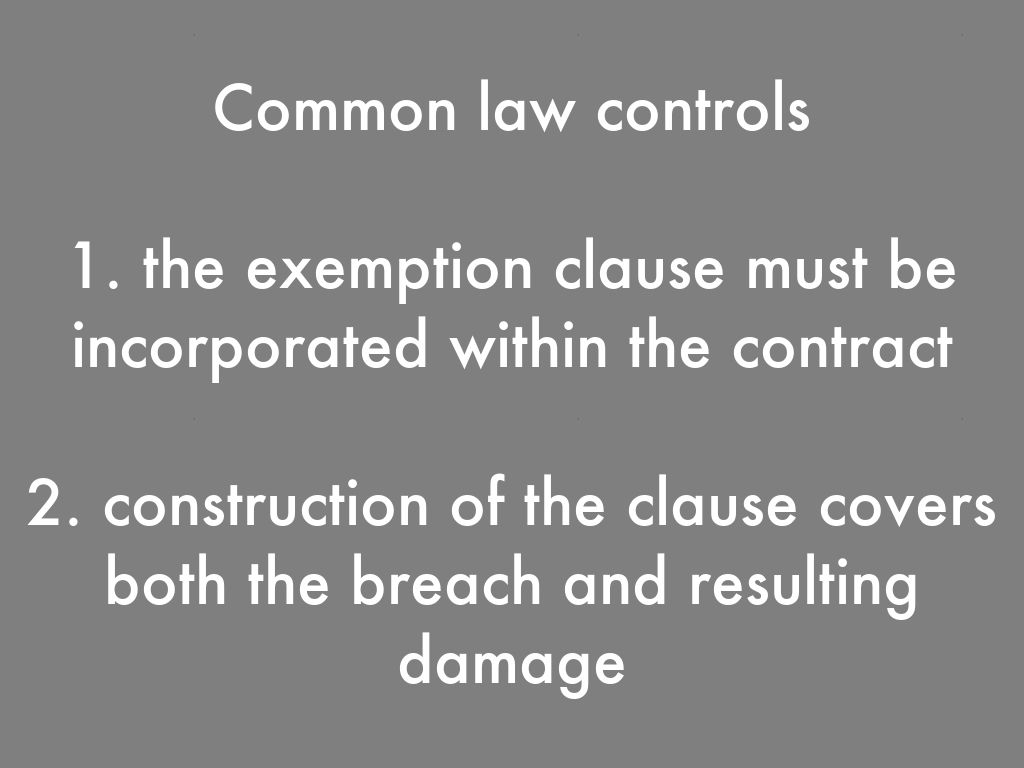 business law exemption clause Exemption clause law and legal definition a party to a contract may include a term in a contract to exclude or limit his/her liability in the event of a breach of contract or in any specified circumstances.