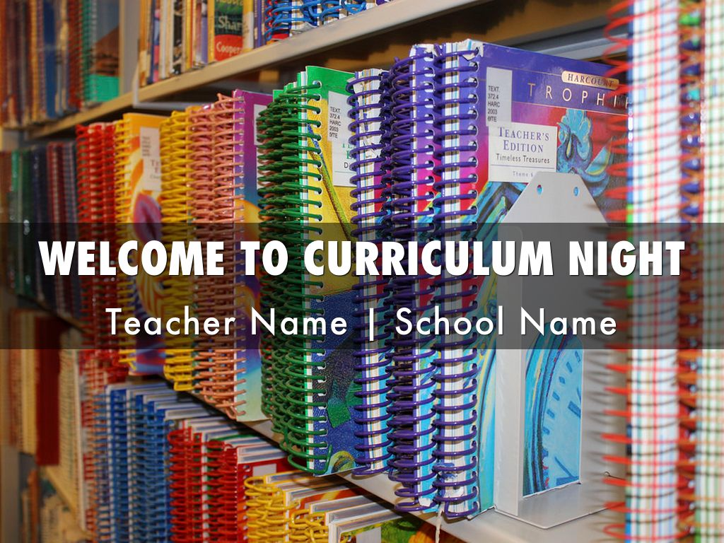 Curriculum Night Template