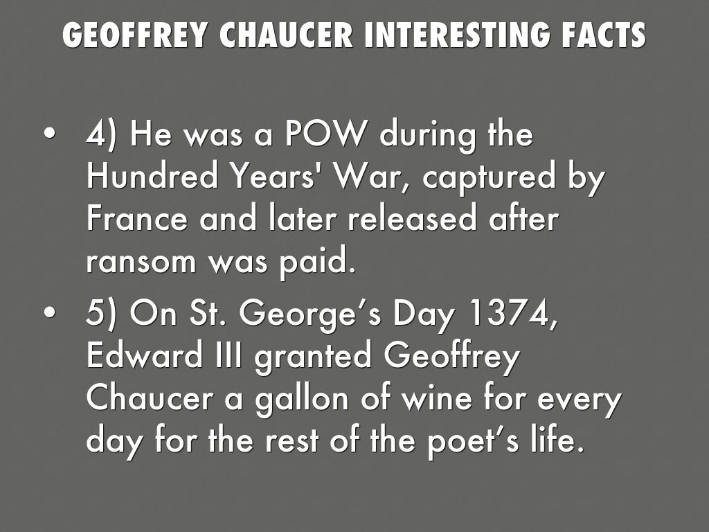a biography of geoffrey chaucer Get information, facts, and pictures about geoffrey chaucer at encyclopediacom make research projects and school reports about geoffrey chaucer easy with credible articles from our free.