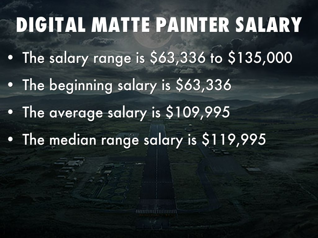 Matte Painting Artist Salary