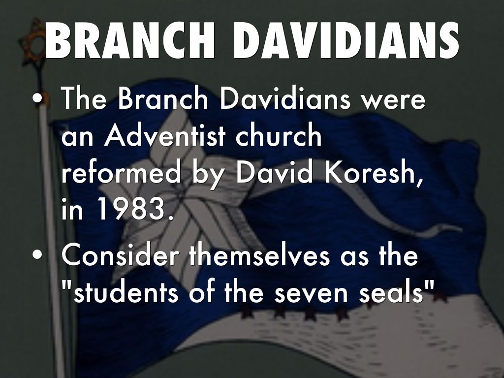 david koresh and the branch davidians To the branch davidians, this siege is the one which began on 28 february 1993 at mt carmel and lasted 51 days brad branch, one of the branch davidians who exited mt carmel, said that in his final, private, bible study koresh claimed the mt carmel standoff was also the siege described in zechariah 14:2.