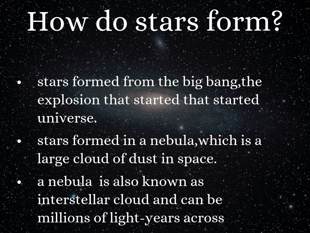 Copy of how stars form? by L G