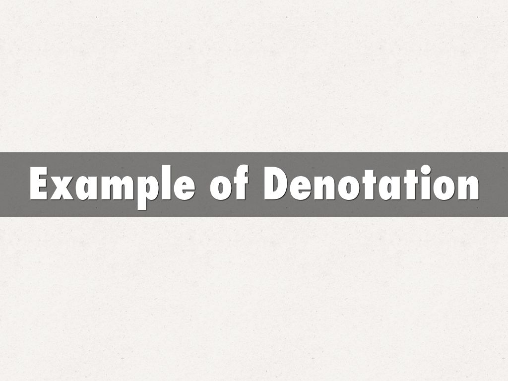 Rl 84 Denotation And Connotation By Ykoga
