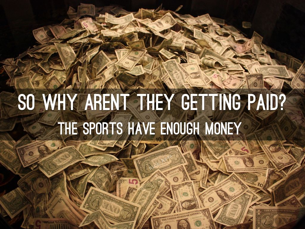student athletes should get payment