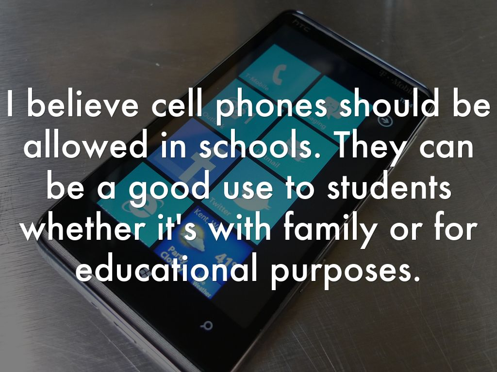 essay about cell phones should be allowed in school