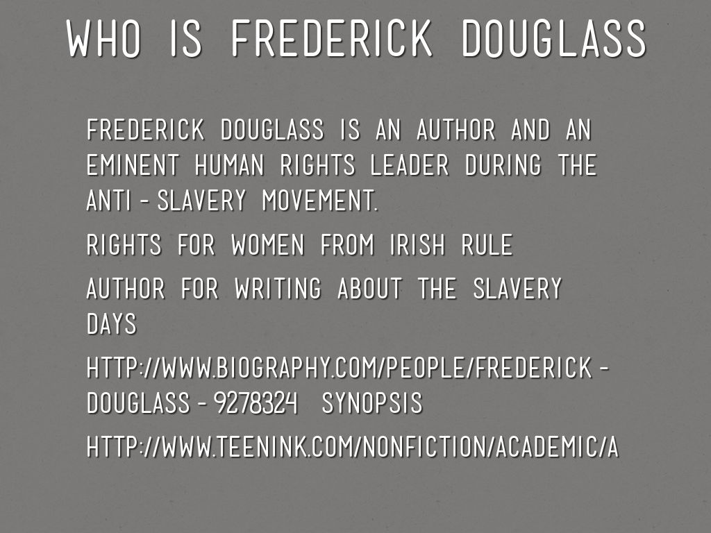 frederick douglass essay imperfections of being Unit title: the narrative of the life of frederick douglass  will write an essay  where they decide if douglass would support the argument presented in the new  article  the hope of being free 6  be minor flaws, they do not interfere.