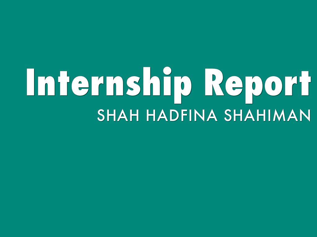 internship report by tambelerfina