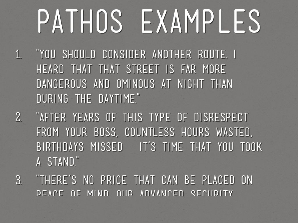 Ethos Pathos Logos By Bcollins