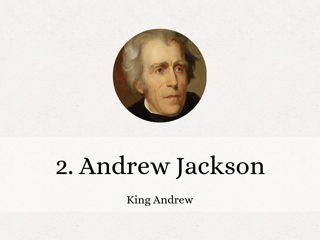 andrew jackson king andrew essay Andrew jackson andrew jackson, more nearly compared to his predecessors, was elected the president by the popular vote he sought to act as a good and direct representative of the common people jackson was born in 1767 in the backwoods of carolina and received the sporadic education.