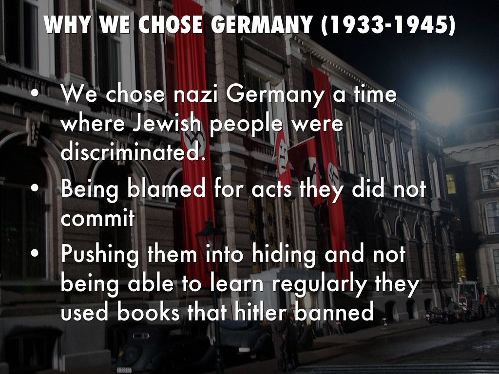 the treatment of germanys in 1933 1945
