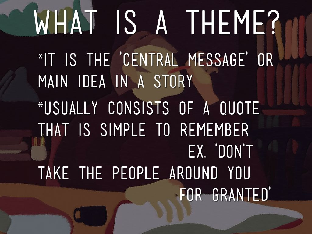 what is theme literature