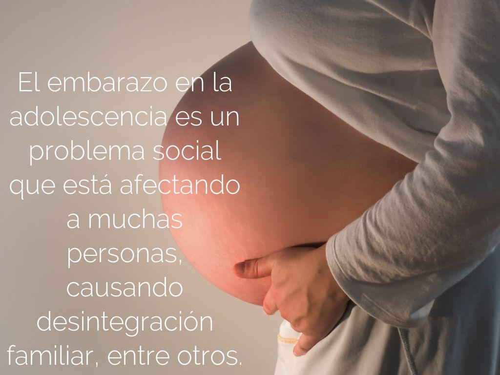 problema de investigacion del embarazo precoz