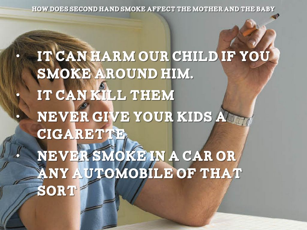 how secondhand smoking affects