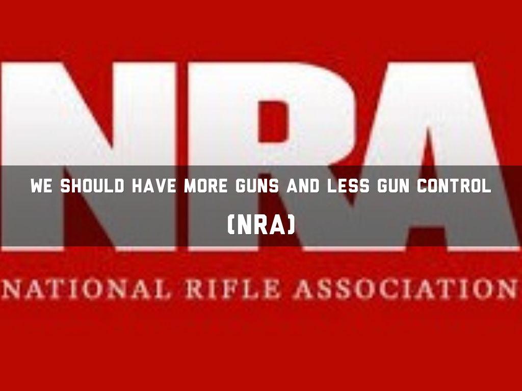 more gun control or less