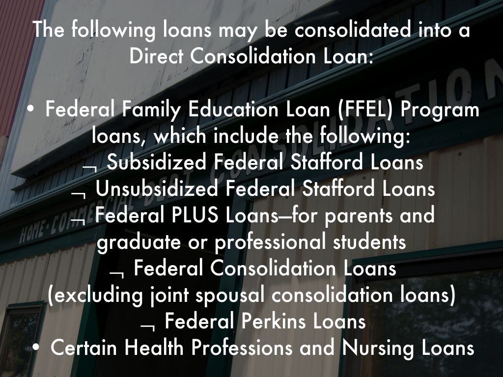 Public service loan forgiveness by jamie scatenato private loans are not eligible for direct loan consolidation or pslf to consolidate your federal student loans into a direct loan 1betcityfo Image collections