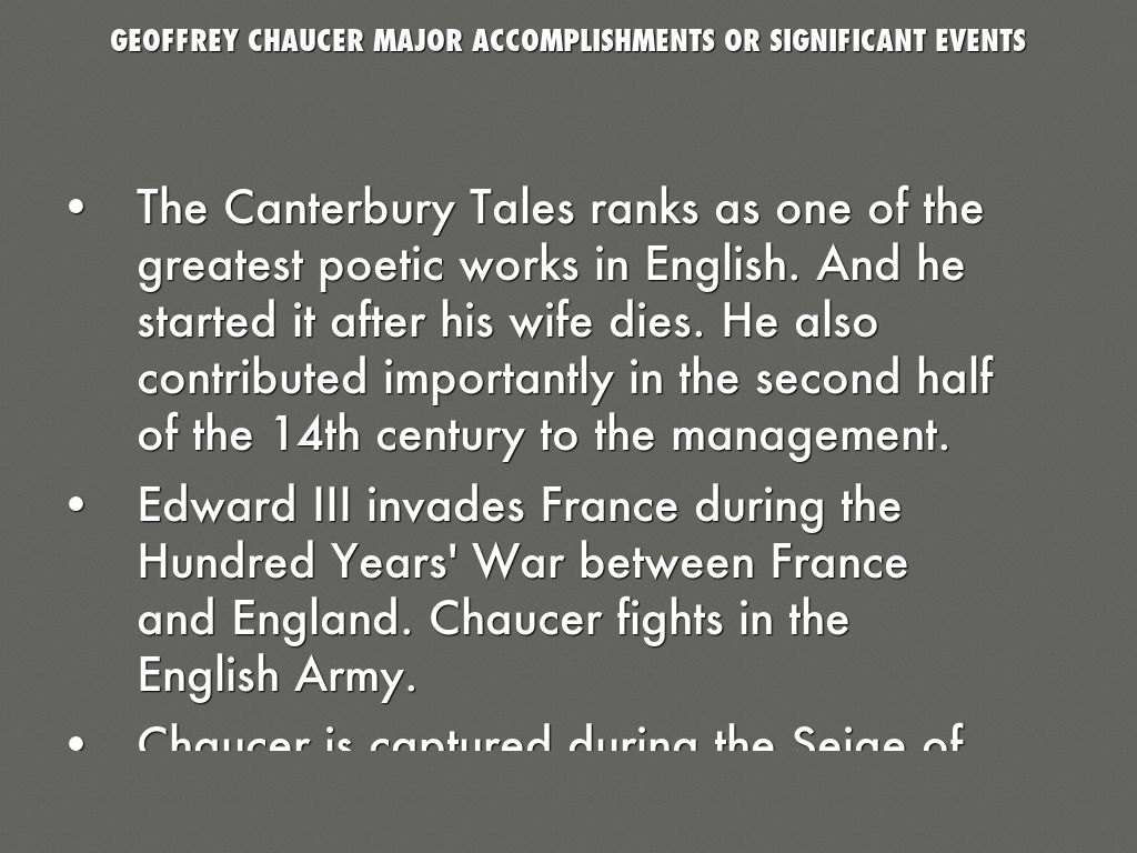 10 facts about geoffrey chaucer