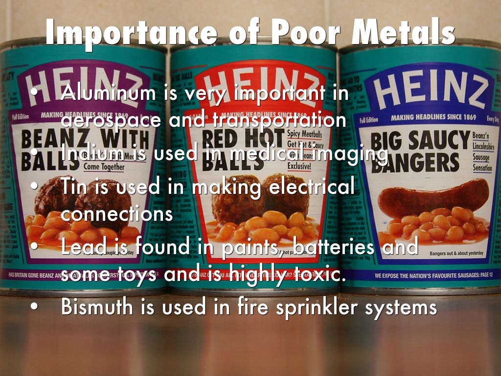 The properties of elements by elise lenahan importance of poor metals gamestrikefo Choice Image