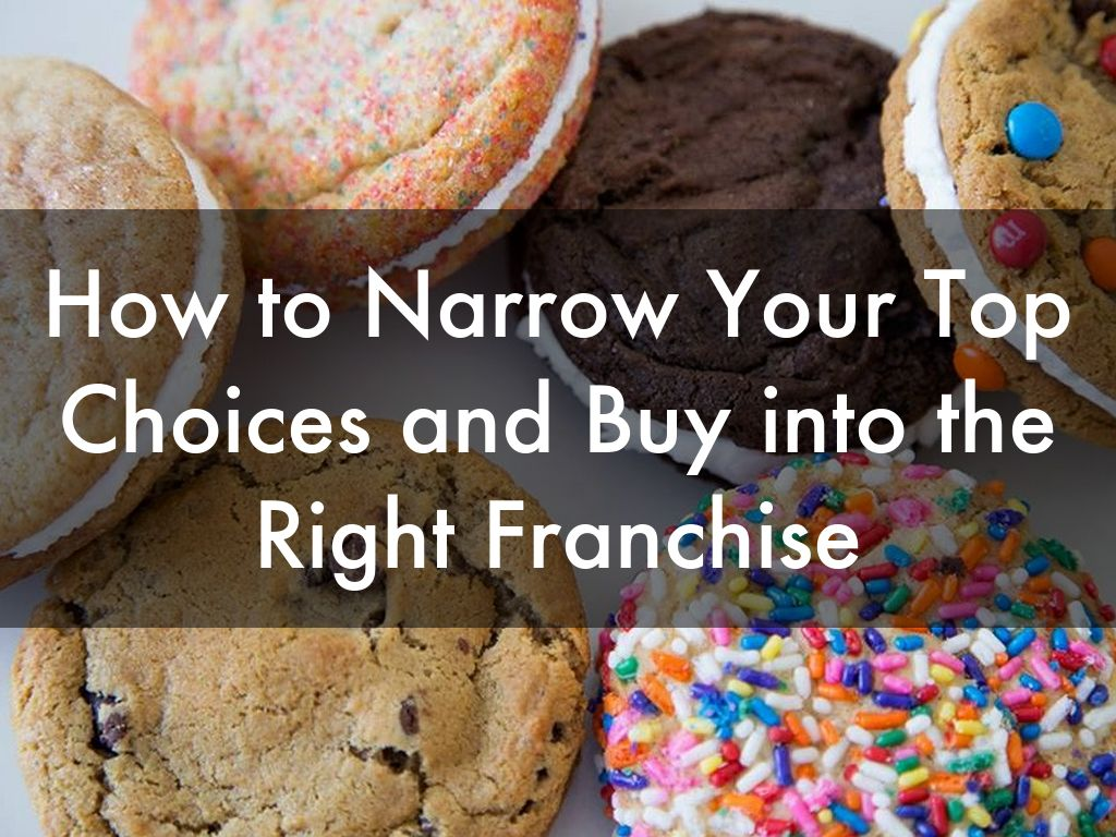 How to Narrow Your Top Choices and Buy into the Right Franchise