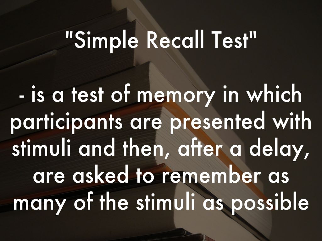 Simple Recall by johroy01