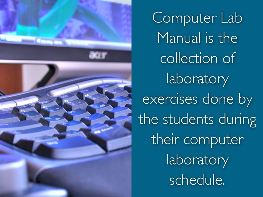 What's inside a computer lab manual by ivy_tarun.