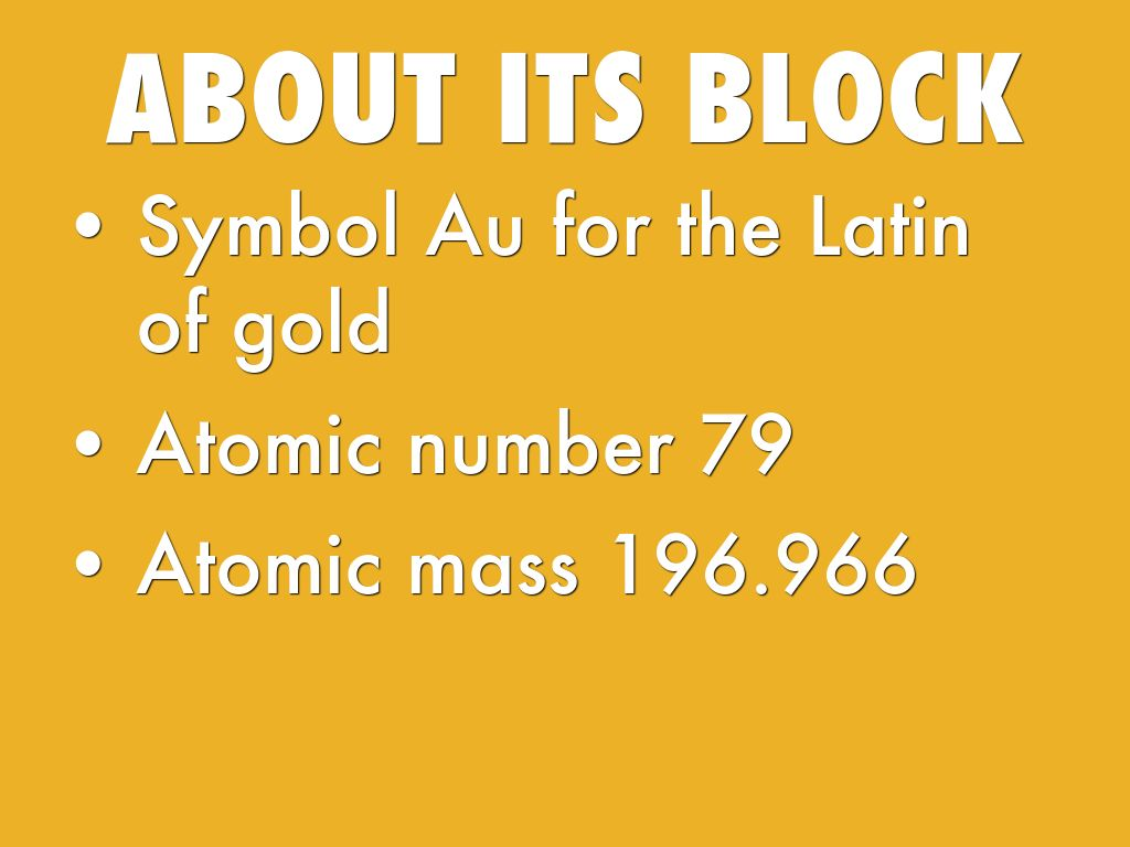 Elements by brendan nelson about its block symbol au for the latin of gold atomic buycottarizona Image collections