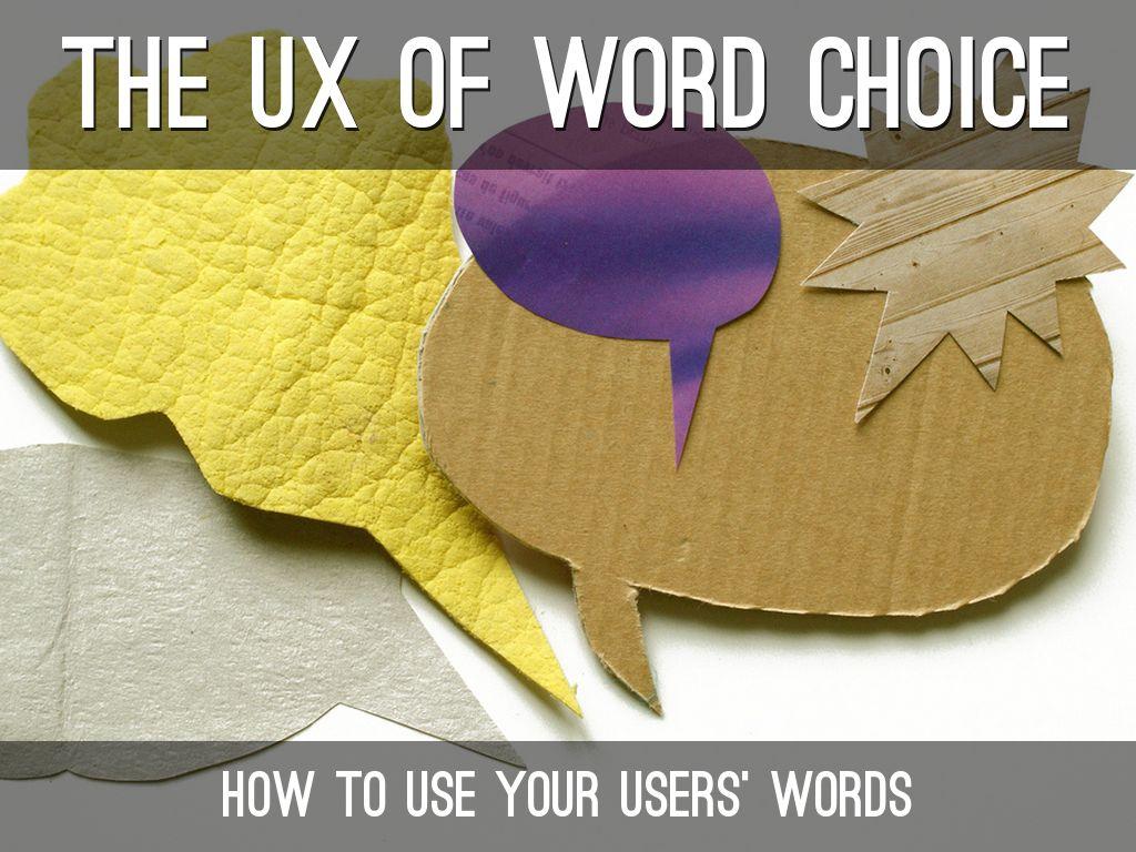 Speak Your Users' Language