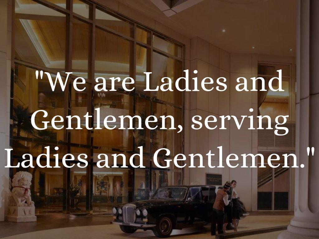We are ladies and gentleman serving ladies and gentleman