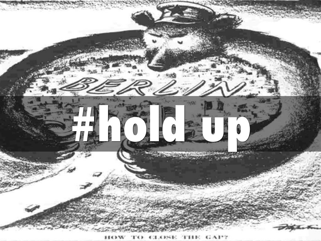 Iron curtain cartoon -  Hold Up