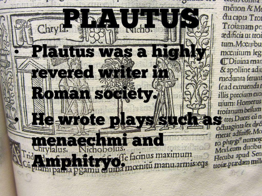 plautus roman playwright