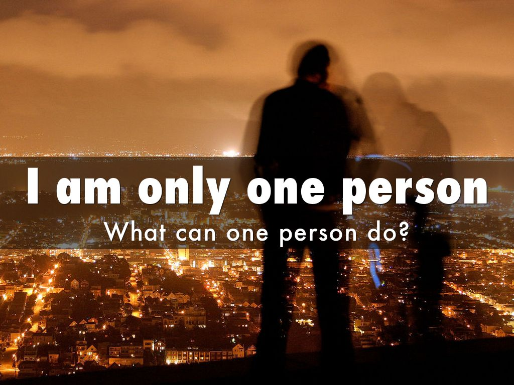 what can a person do to