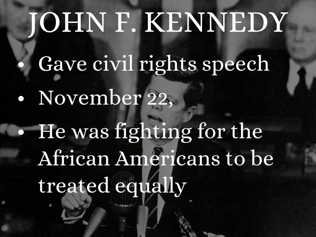 john f kennedy speech on civil rights movement