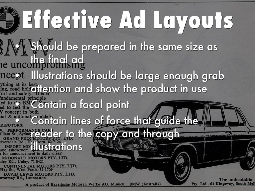 effective advertising layouts