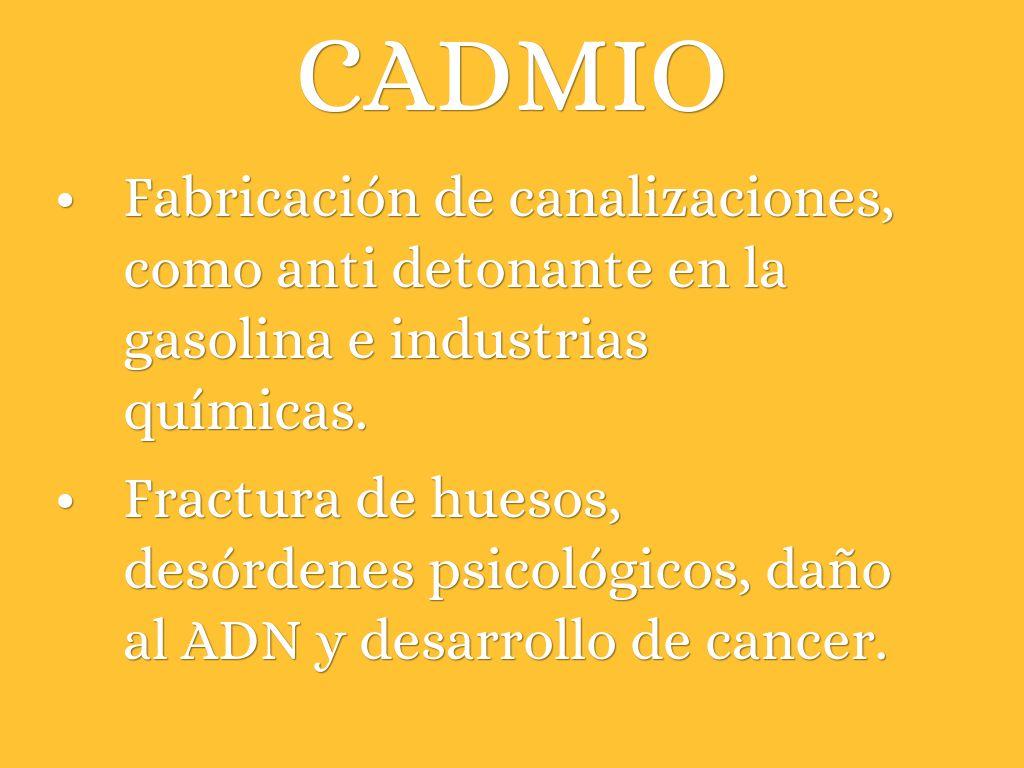 cáncer de próstata de cadmios