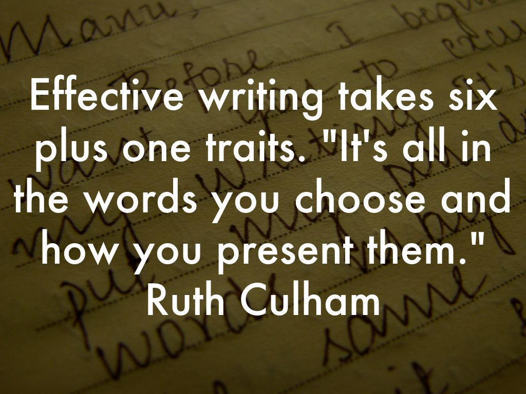 six plus one writing traits