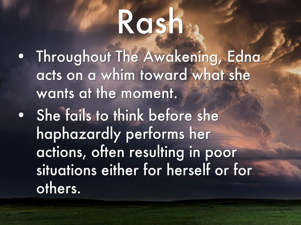 the awakening ednas suicide failure or Symbols & symbolism in the awakening by chopin edna chooses to commit suicide failure to be strong or a rejection and destruction of the victorian ideal.