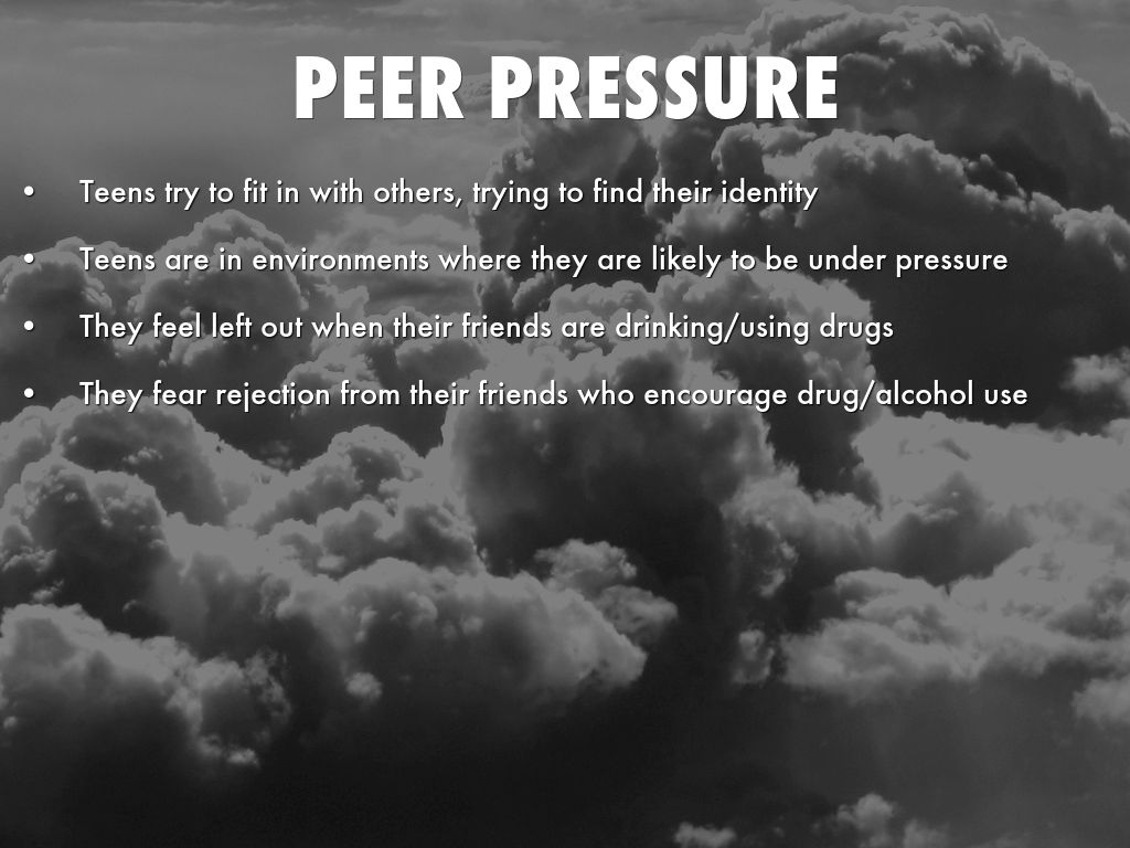 background of peer pressure What is peer pressure by definition peer pressure is influencing another person's decisions peer pressure is not always negative keep reading to learn more about negative peer pressure, positive peer pressure, and controlling peer pressure.