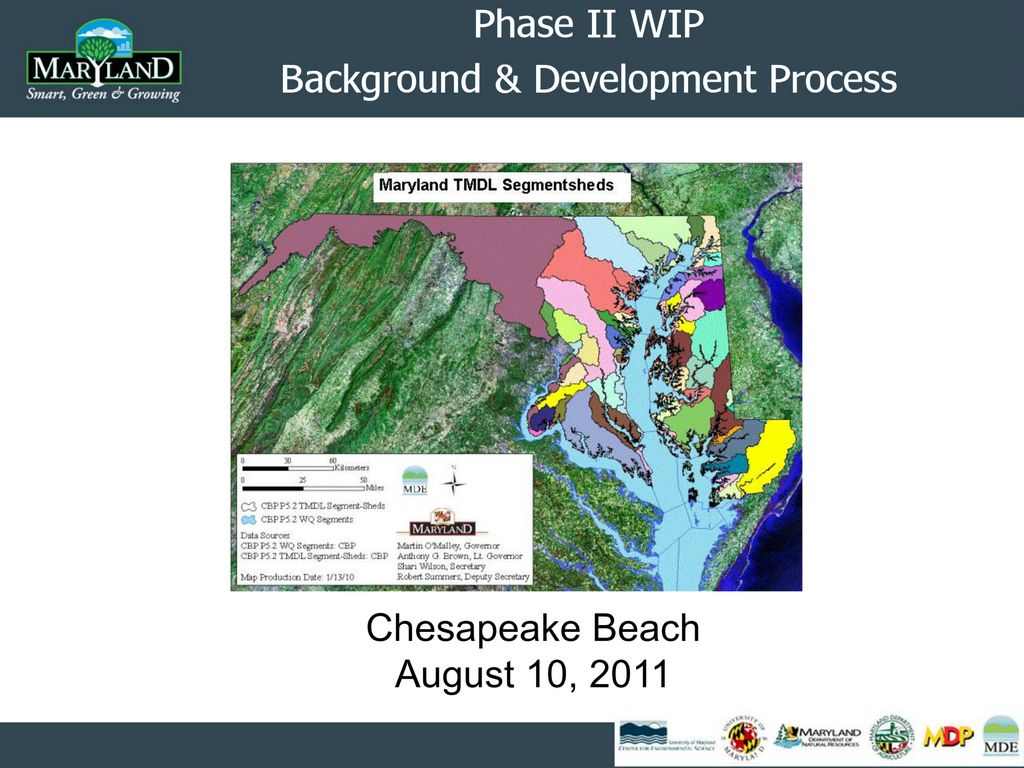 "Richard Eskin (Director, Science Services Administration, Maryland Department of the Environment) presentation on  ""Watershed Implementation Plan Phase II"" - August 10, 2011"