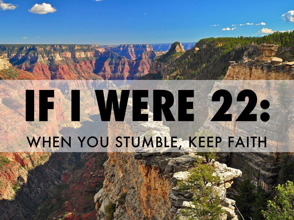 IF I WERE 22: