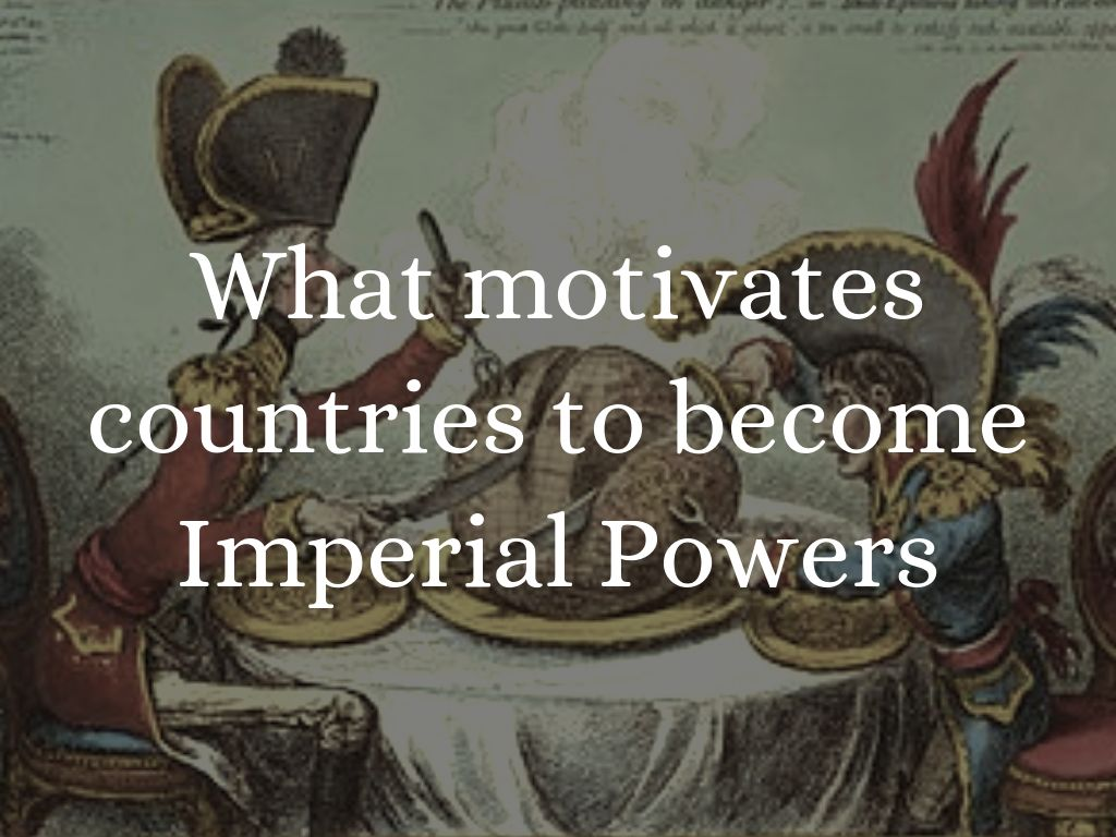 the religious motive of imperialism Which statement best expresses the motive for 19th-century european imperialism  and 19th centuries, europeans improved roads and bridges  religious and.