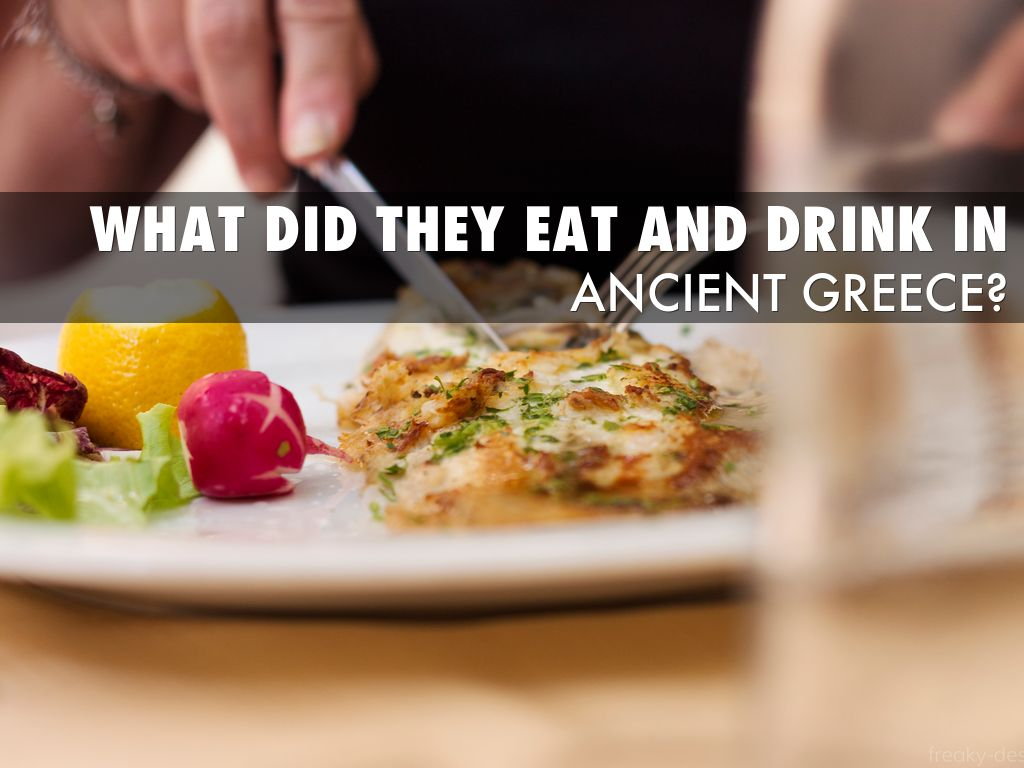 Ancient greece food drinks by stanley chiu for Ancient greek cuisine