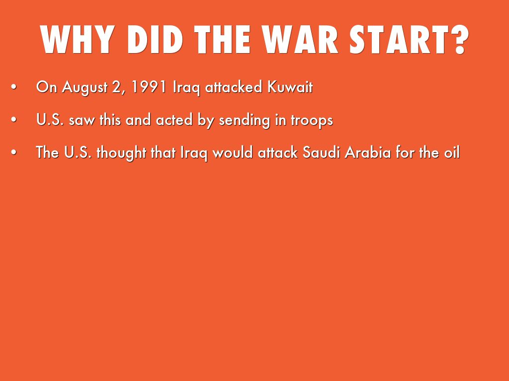 the reasons why the persian gulf war became a reality