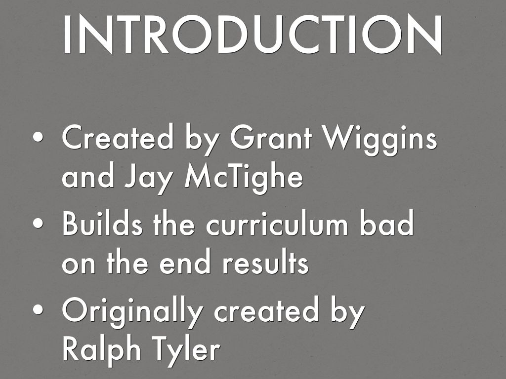 transformation of grant wiggins essay Sectionalism and the civil war themes  by design by grant wiggins and jay  have been added to a google group called new visions social studies.