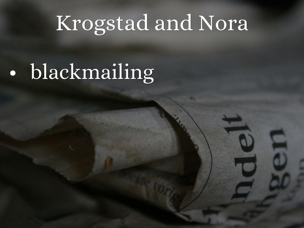 nora and krogstad in comparison