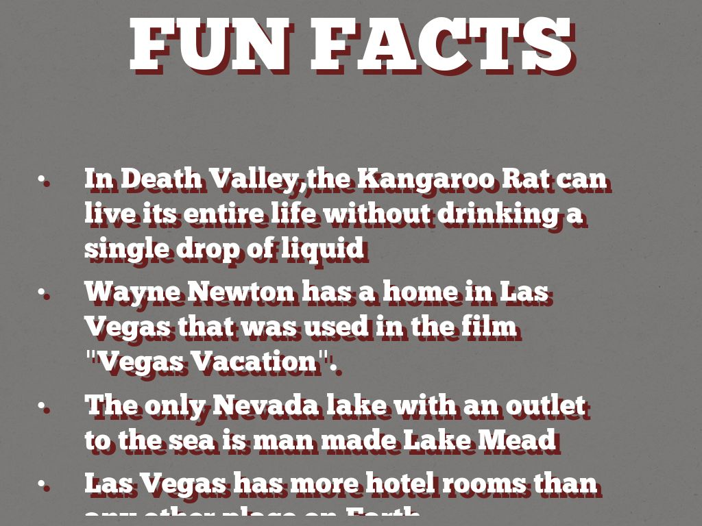 Nevada fun facts by ab6115 for Amazing facts about las vegas