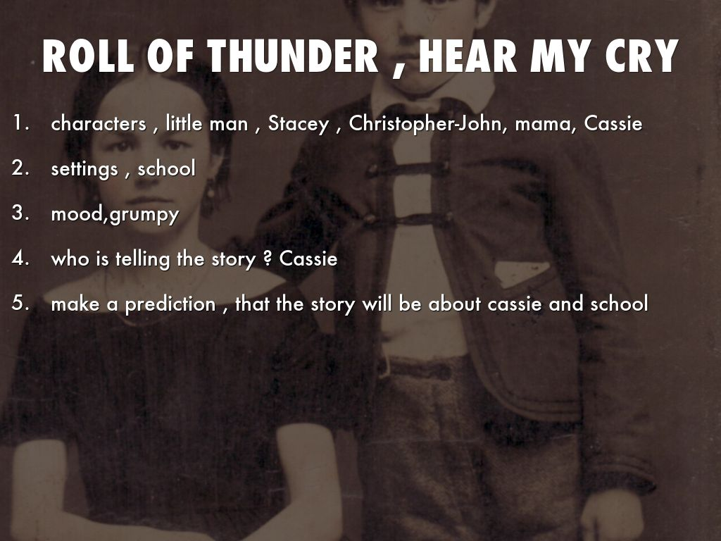 ROLL OF THUNDER , HEAR MY CRY by mollystephens03