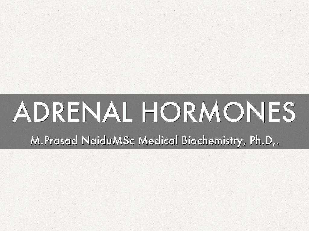 Adrenal Hormones By Masad Naidu